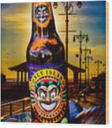 Coney Island Beer Wood Print