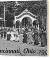 Coney Island In Cincinnati 1908 Wood Print