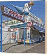 Coney Island Memories 11 Wood Print