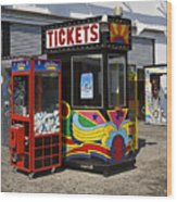 Coney Island Memories 3 Wood Print