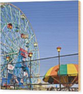 Coney Island Memories 6 Wood Print