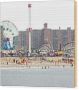Coney Island, New York Wood Print