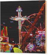 Coney Island Opening Day In Brooklyn New York Wood Print