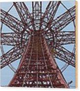 Coney Island Parachute Jump 01 Wood Print