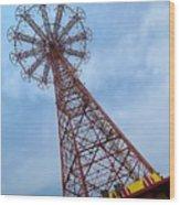 Coney Island Parachute Jump 03 Wood Print