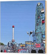 Coney Island's Astroland  Wood Print