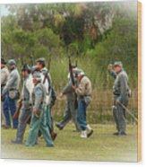 Confederate Advance Wood Print