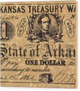 Confederate Banknote Wood Print