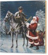 Confederate Christmas Wood Print by Dan  Nance