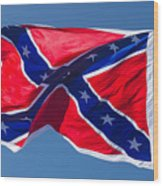 Confederate Flag 3 Wood Print
