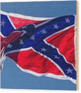 Confederate Flag 4 Wood Print