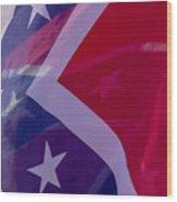 Confederate Flag 6 Wood Print