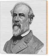 Confederate General Robert E Lee Wood Print