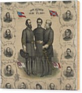 Confederate Generals Of The Civil War Wood Print by War Is Hell Store