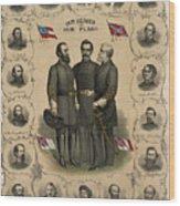 Confederate Generals Of The Civil War Wood Print
