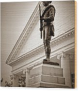 Confederate Memorial In Sepia Tone Wood Print