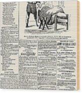 Confederate Newspaper Wood Print