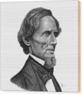 Confederate President Jefferson Davis Wood Print