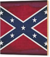 Confederate Rebel Battle Flag Wood Print