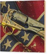 Confederate Sidearm Wood Print