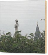 Confederate Soldier Standing Tall Wood Print