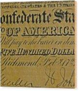Confederate States Wood Print