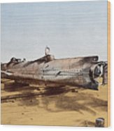 Confederate Submarine, Hunley Wood Print