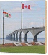 Confederation Bridge 5524  Wood Print