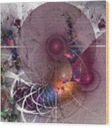 Confetti - Fractal Art Wood Print