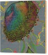 Confetti Flower Wood Print