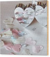 Confetti Hearts Wood Print