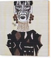 Congo Lady Wood Print