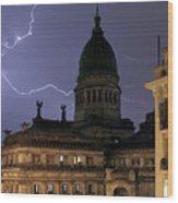 Congreso Lightning Wood Print