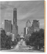 Congress Andtexas Capitol Black And White 1 Wood Print