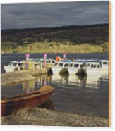 Coniston Water Boats Wood Print
