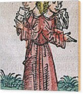 Conjoined Twins, Nuremberg Chronicle Wood Print