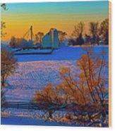 Conley Road Farm Winter  Wood Print