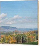 Connecticut Scenic Vista Wood Print