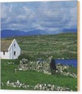 Connemara, Co Galway, Ireland Cottages Wood Print