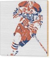 Connor Mcdavid Edmonton Oilers Pixel Art 6 Wood Print