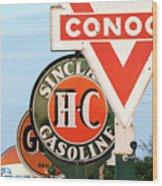 Conoco Sign 081117 Wood Print