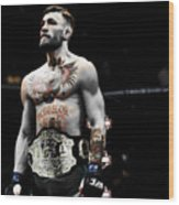 Conor Mcgregor Standing Tall Wood Print