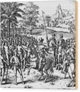 Conquest Of Inca Empire Wood Print