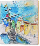 Conquistador Boat In Portugal Wood Print