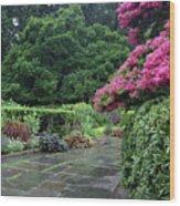 Conservatory Rain Wood Print
