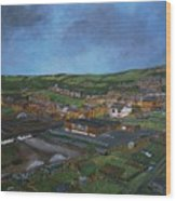Consett, Blackhill, County Durham Wood Print
