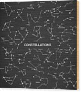 Constellations Wood Print
