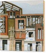 Construction 5 Wood Print by Ashley Lathe