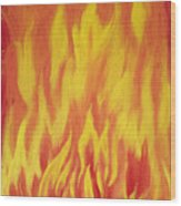 Consuming Fire Wood Print