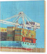 Container Jockey Wood Print